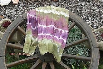 Šály - fialovo zelený šál - 8139821_