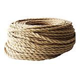 Kábel dvojžilový v podobe retro lana, 2 x 0.75mm, 1 meter