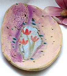 Nádoby - misa kvet ružová - 8138760_