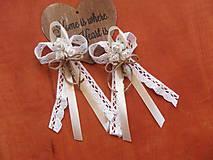Pierka - Č. 139 Veľké vintage pierka s krajkou a 3 ružičkami - 8138585_
