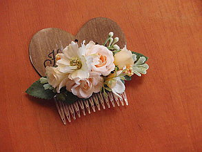 Ozdoby do vlasov - Marhuľkový hrebienok - 8142036_