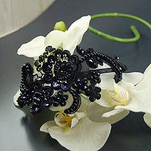 Ozdoby do vlasov - Vintage Black krajková ... čelenka - 8143088_