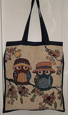 Nákupné tašky - Nákupná taška - Sovičky - 8145861_