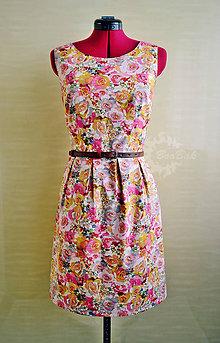Šaty - Rozkvitnuté leto, šaty - 8144622_