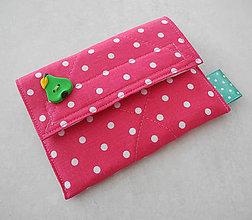 Detské doplnky - Detská peňaženka... ružová bodkovaná I - 8142948_