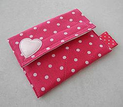 Detské doplnky - Detská peňaženka... ružová bodkovaná II - 8142966_