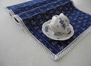 Úžitkový textil - Štóla na stôl... modrotlač III - 8143402_