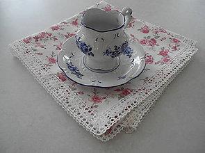 Úžitkový textil - Obrus na stôl... jemný s ružami - 8143536_