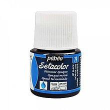 Farby-laky - Farba na textil Pébéo, Setacolor opaque, metalické (79 shimmer jet black) - 8145207_