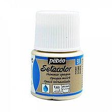Farby-laky - Farba na textil Pébéo, Setacolor opaque, metalické - 8145438_