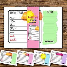 Papiernictvo - MADEBOOK kartičky týždenného kalendára - 8142953_