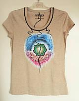 Tričká - Hadie oko - ručne maľované tričko - 8143256_