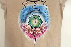 Tričká - Hadie oko - ručne maľované tričko - 8143259_