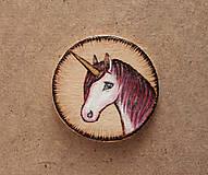 Odznaky/Brošne - Maľovaná brošňa - Jednorožec - 8144131_