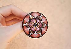 Odznaky/Brošne - Maľovaná brošňa - Púštna ruža - 8144260_