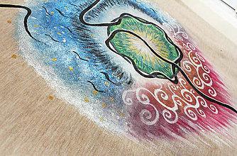 Tričká - Hadie oko - ručne maľované tričko - 8143260_