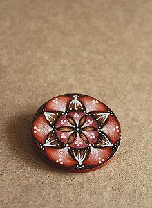 Odznaky/Brošne - Maľovaná brošňa - Púštna ruža - 8144256_
