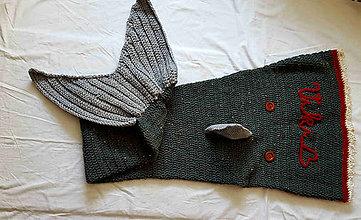 Úžitkový textil - Deka žralok darčeková - 8143366_