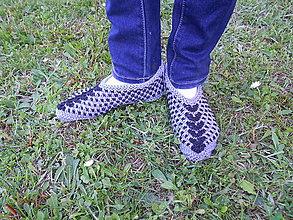 Obuv - Pletené papučky Alenka - 8143849_