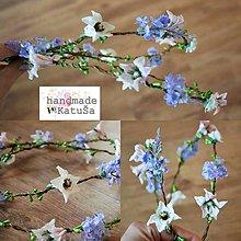 Ozdoby do vlasov - Svadobná tiara lúčne kvety - 8143258_