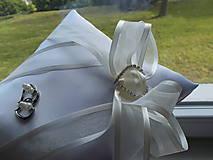 Prstene - svadobný vankúšik pod obrúčky - 8144597_
