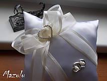 Prstene - svadobný vankúšik pod obrúčky - 8144598_