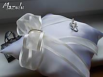 Prstene - svadobný vankúšik pod obrúčky - 8144599_