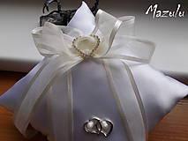 Prstene - svadobný vankúšik pod obrúčky - 8144600_
