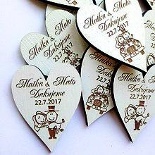 Darčeky pre svadobčanov - Svadobná magnetka biela - 8142855_