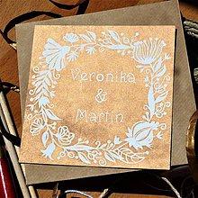 Papiernictvo - Svadobné oznámenie: Linoryt: Kvety - 8143050_
