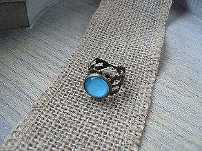 Prstene - Tyrkysový prsteň - 8144750_