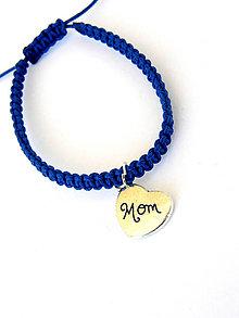 Náramky - den matiek - mama - shamballa modra - 8145673_
