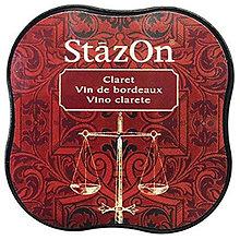Farby-laky - StazOn Midi - Claret (červený permanentý vodeodolný atrament na pečiatkovanie) - 8142749_