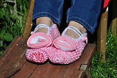 Obuv - ružové baleríny - 8144736_