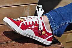Obuv - červené tenisky - 8145934_