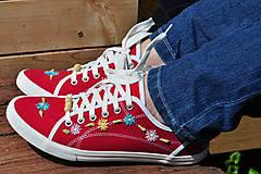 Obuv - červené tenisky - 8145935_