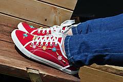 Obuv - červené tenisky - 8145936_