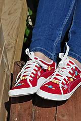 Obuv - červené tenisky - 8145938_