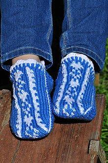 Obuv - modré papuče - 8145212_