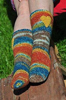 Obuv - farebné ponožky... - 8145414_