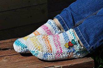 Obuv - farebné papučky - 8145682_