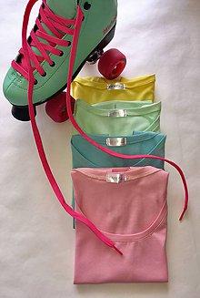 Topy - Pastelkové crop topíky s krátkym rukávom - 8145181_