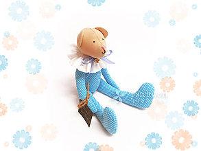 Hračky - Textilná hračka - Macko tyrkysový - 8143551_