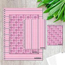 Papiernictvo - MADEBOOK sada - pink - 8146581_