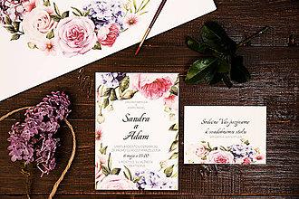 """Papiernictvo - Svadobné oznámenie """"kvetinový záhon"""" - 8147367_"""