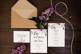 """Papiernictvo - Svadobné oznámenie """"ruže"""" - 8147429_"""