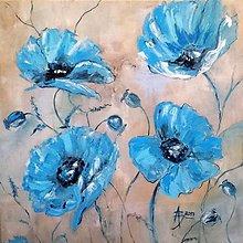 Obrazy - Modré maky - 8148884_