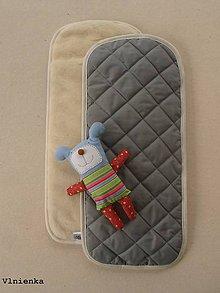 Textil - Podložka ELEGANT do kočíka 100% ovčie rúno MERINO TOP Bugaboo Cameleon Grey šedá - 8148736_