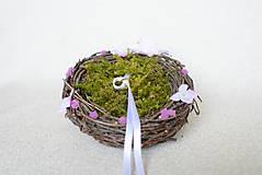 Prstene - Hniezdo na svadobné obrúčky - 8148010_