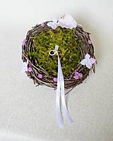 Prstene - Hniezdo na svadobné obrúčky - 8148011_